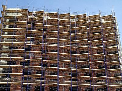 Аренда строительных лесов рамного типа